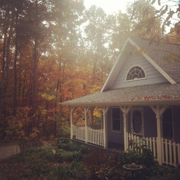 The Blue Cottage Rental - Lookout Mountain Getaway, alquiler de vacaciones en Rising Fawn
