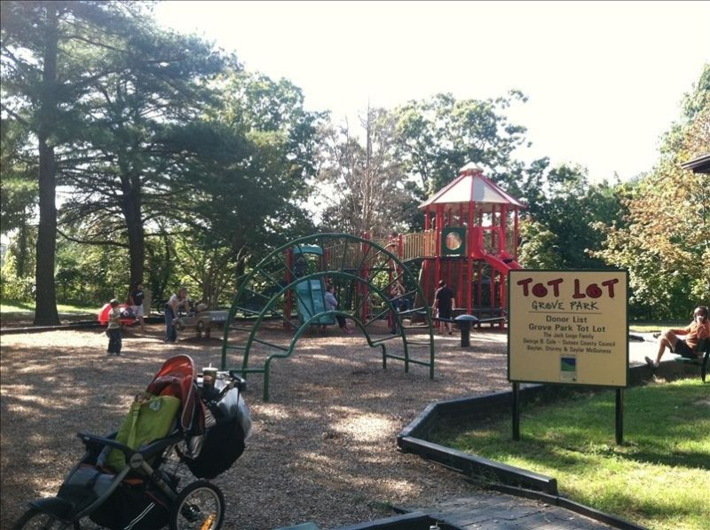 Grove park is a large children's playground, only 5 minute walk from house