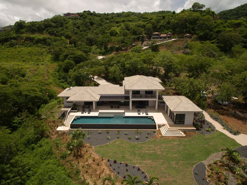 View from ocean side looking up the mountain surrounded by 3 acres of privacy.