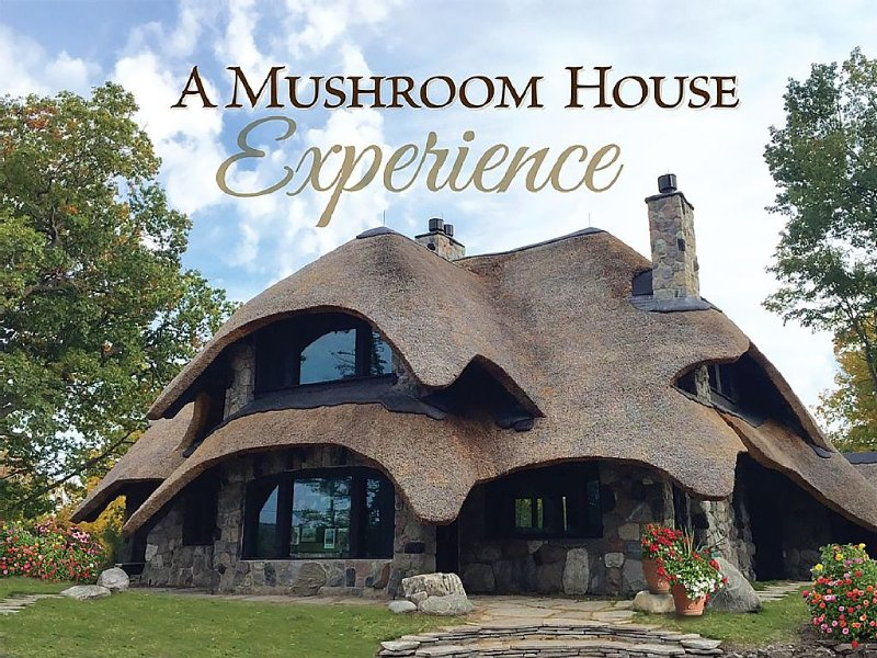 Charlevoix Mushroom Thatch House. Walk to Downtown. Beach Across the Street!, casa vacanza a Charlevoix