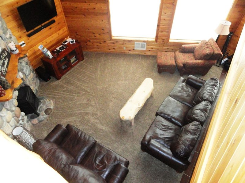 View of livingroom from upstairs.