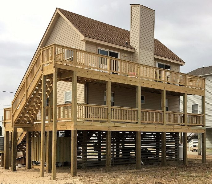 Totally Renovated, Very Affordable, Pet Friendly, 4 Br With Beautiful Views, alquiler de vacaciones en Kitty Hawk