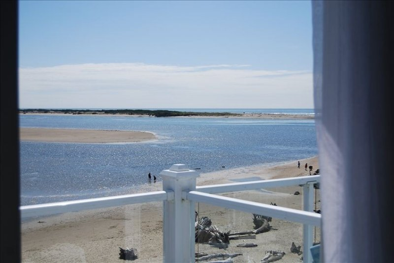 View from Deck of Bay and Ocean...