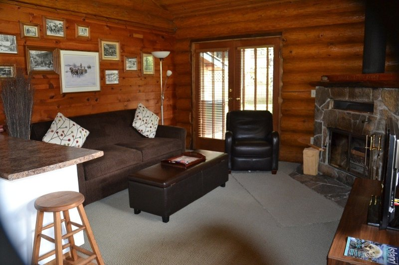 Dream by the fireplace in our lovely log home!, holiday rental in Errington