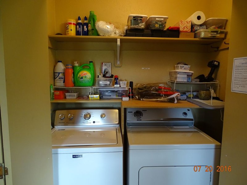 Washer, dryer, soap and all comforts of home at your disposal