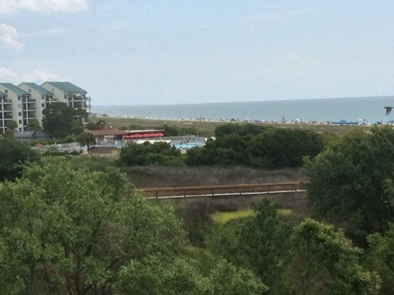 King Size Bed Plus  King Size View in Admiral's Row Top Floor!, alquiler vacacional en Bluffton