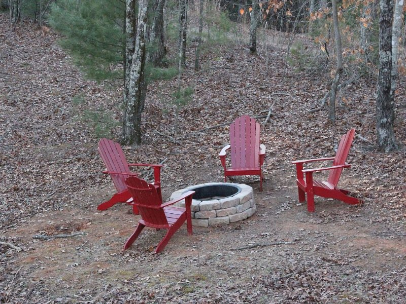 Newly built fire pit