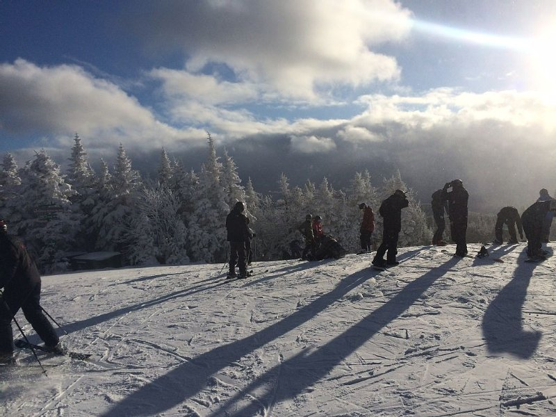 Winter Skiing on top of Mt. Snow