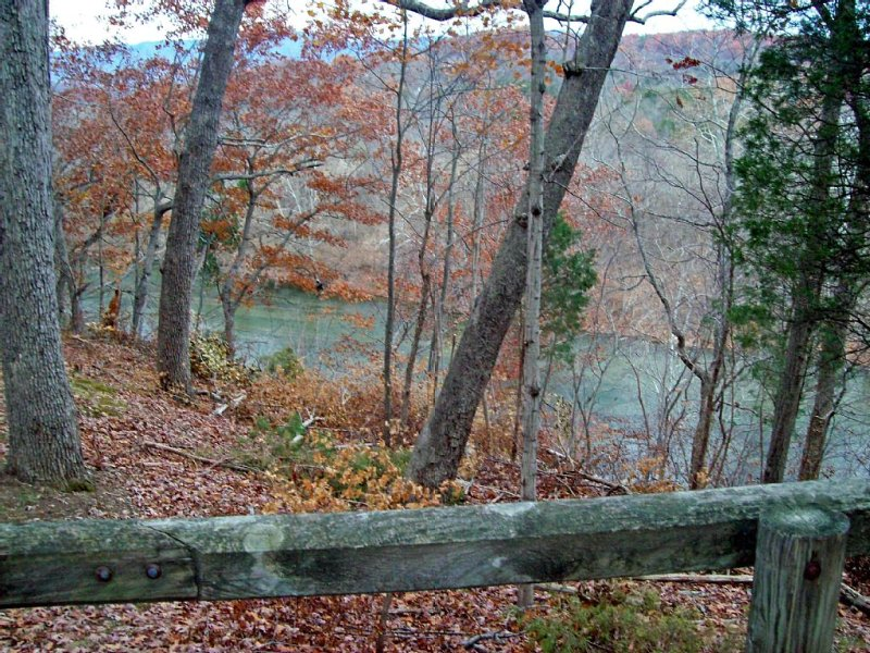Fall view of river from front porch