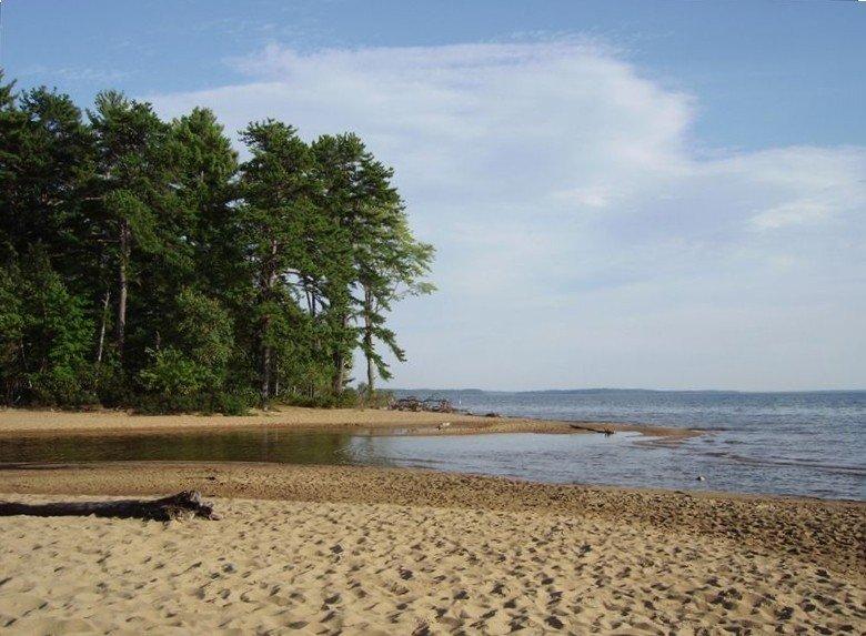 Sebago Lake State Park, far end Songo Beach