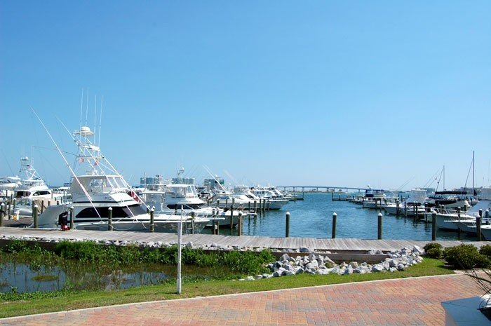 View of Sportsmans Marina and Perdido Pass