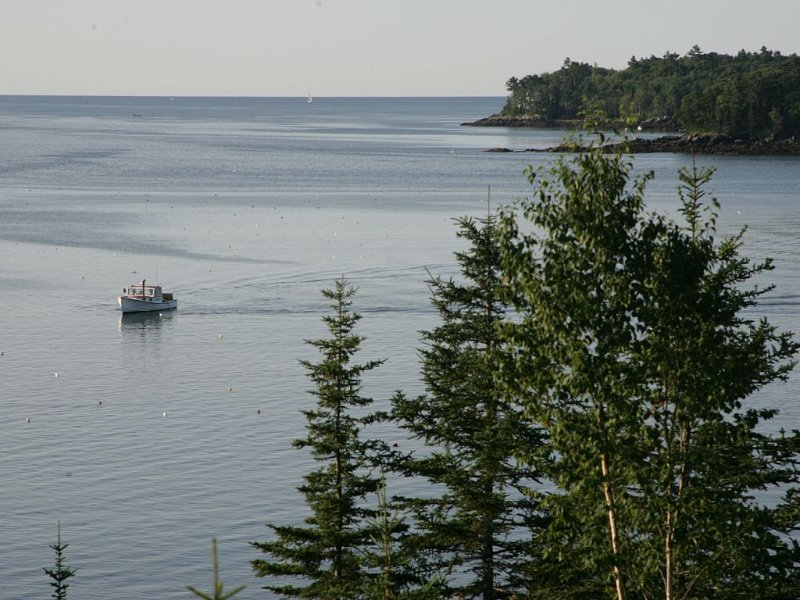 Maine Coast House with Spectacular Ocean Views and Sandy Beach for Swimming, holiday rental in Bristol