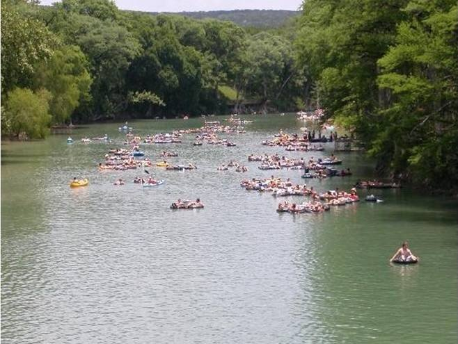 Tubing on the Guadalupe River, only minutes away!
