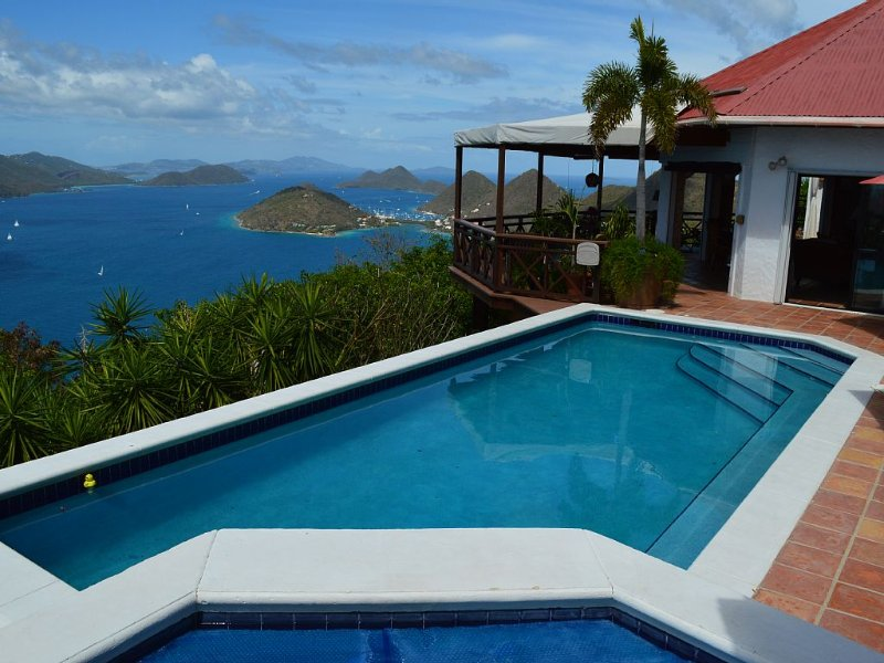 High Point Villa 2 BR Suite Pool Hot Tub 4 Adults $2,700 - $5,144 Awesome Views, holiday rental in British Virgin Islands