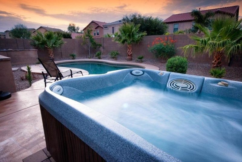Beautiful relaxing spa and lovely heated pool await you.