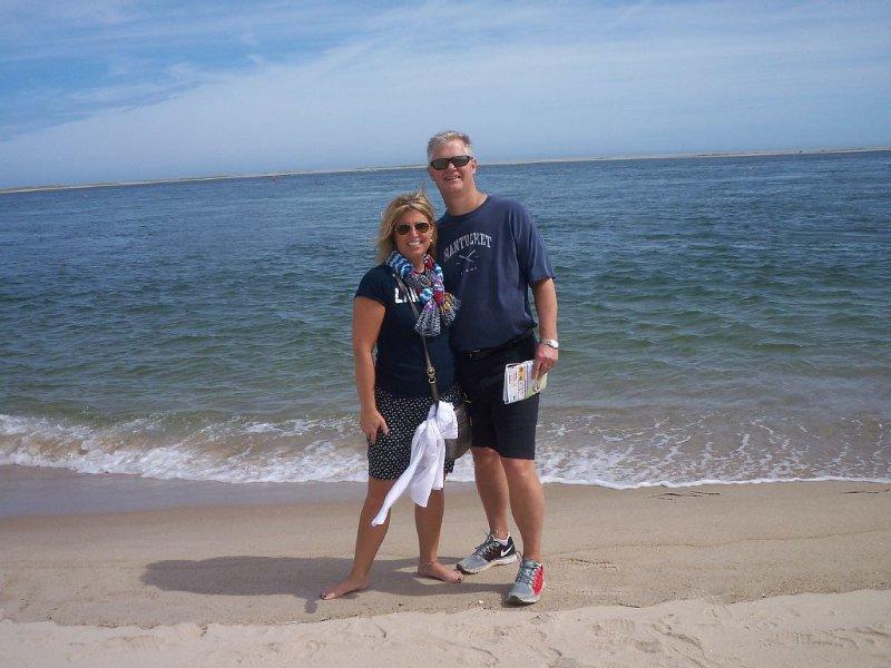 Me and my husband enjoying the beach.