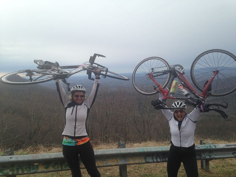 We conquered Burnt Mountain.  We rode from the Ice cream shot at North Entrance.