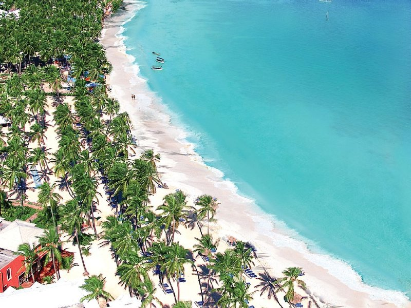 Famous white sand beach is close by