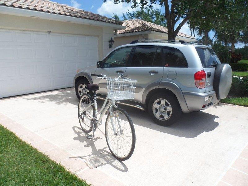 The Rav and lady's bike