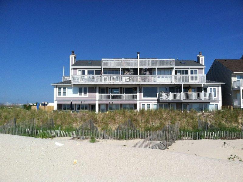View of condo complex from Private Community beach
