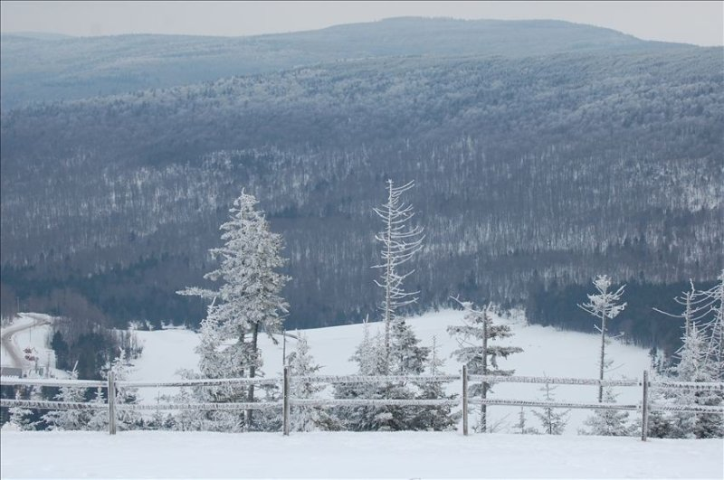 Beautiful view of the mountain during Ski Season.