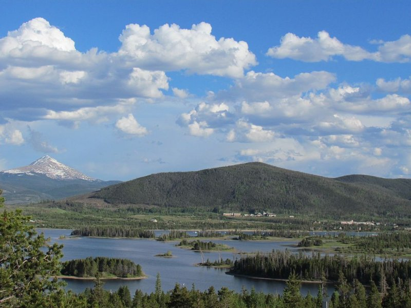 View of Dillon Lake only 2 miles away and great biking trail around the lake...