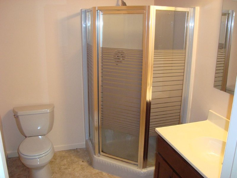 One of 4 bathrooms, available at every level of house