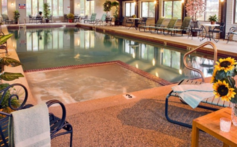 The indoor pool at Attitash Mountain Village where we are Sports Club Members.