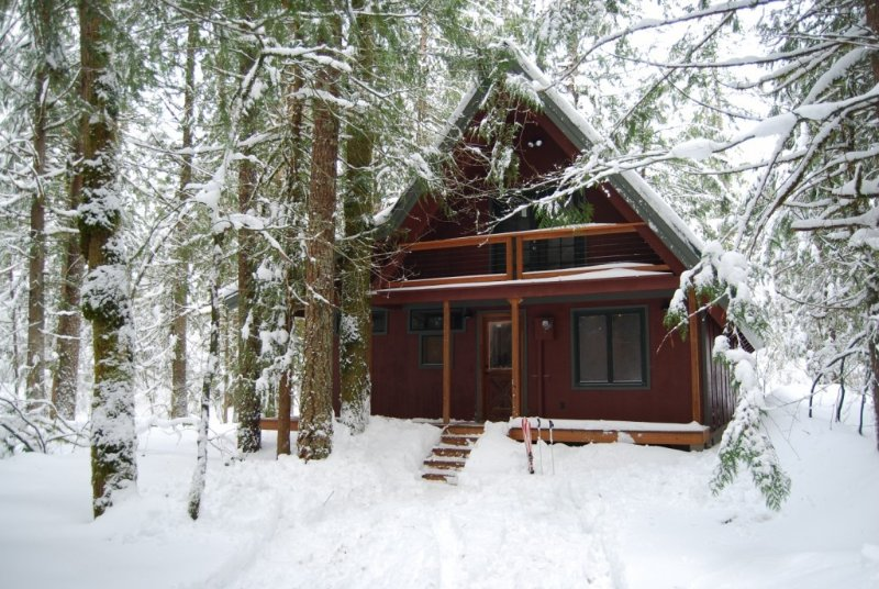 Wooded New Cabin on Sandy River and 10 Miles from Ski Resorts, holiday rental in Rhododendron