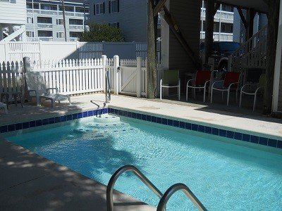 Enjoy the afternoon in the pool or just watch the kids play while enjoying the shade.
