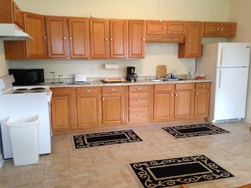 Very spacious kitchens.