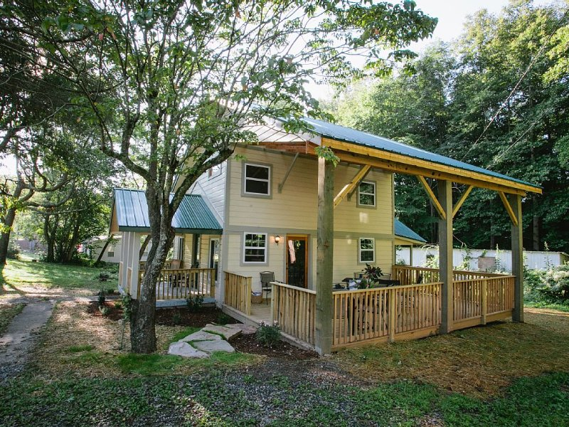 Dryad Cottage: New Remodel, High Ceilings, Light & Air, And A Large Covered Deck, alquiler vacacional en Black Mountain