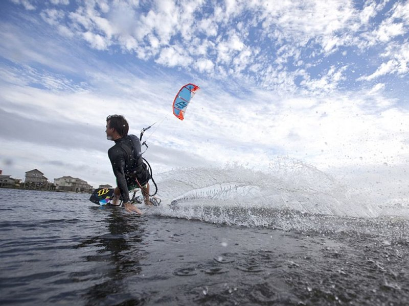 Hatteras Island is a kiteboarding mecca. Take lessons just across the street!