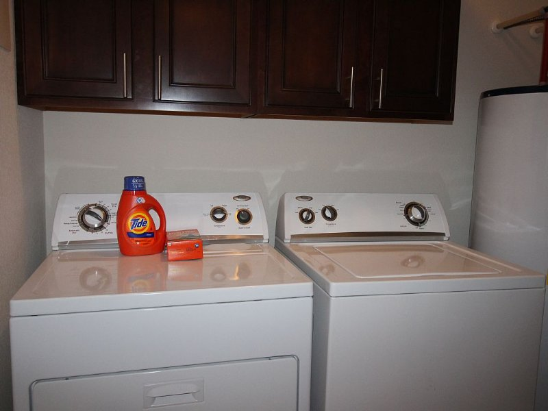 Full Size Washer and Dryer in Hallway Equipment Closet