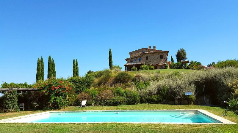 Old Farm House 25 km Siena in Front of Montalcino with Pool/taking cooking class, vacation rental in Vergelle
