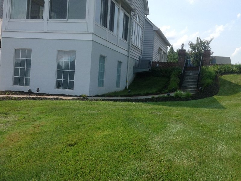Walkway to patio and rental entry