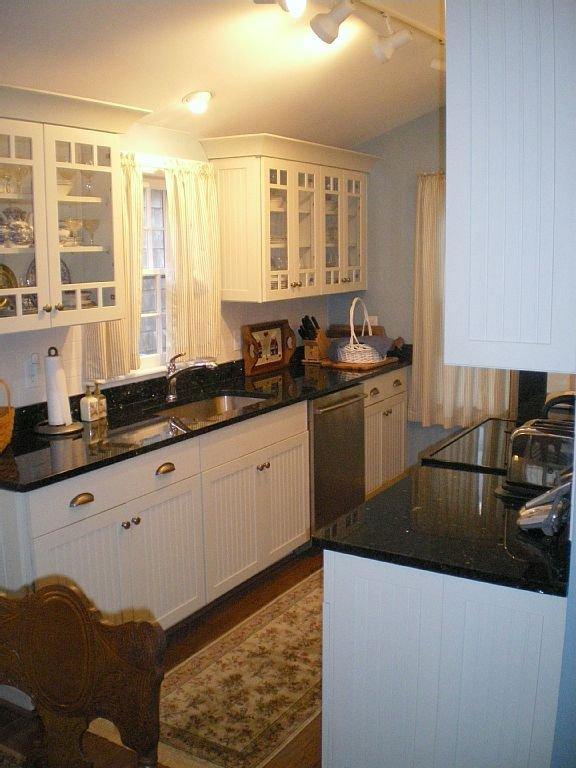 Gourmet galley kitchen.