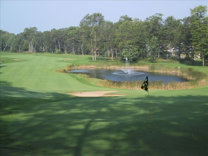 Standing on 10th Green Looking down 10th Fairway of Fountains Course