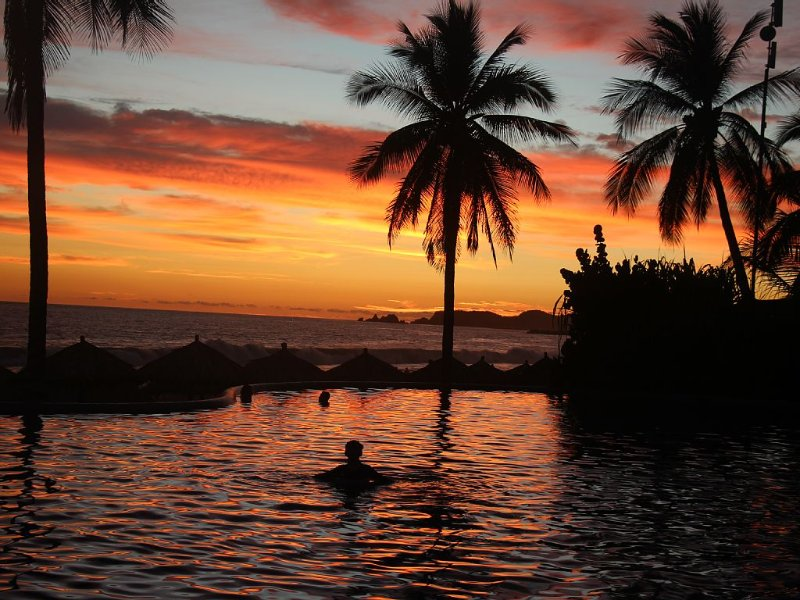 End the day with a quiet evening swim.