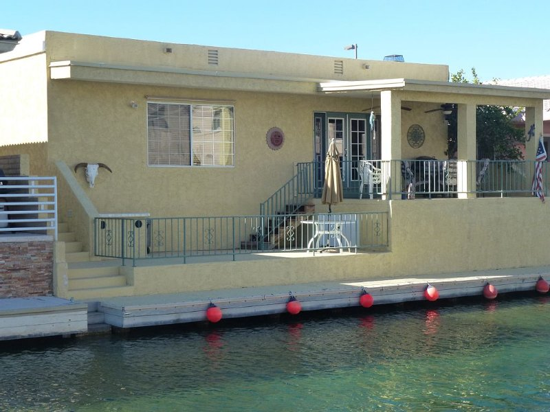 Waterfront Parker Strip - Private 50' Dock - Moovalya Keys, holiday rental in Parker