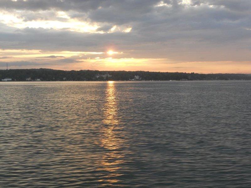 Sunset on the west end of Chautauqua Lake