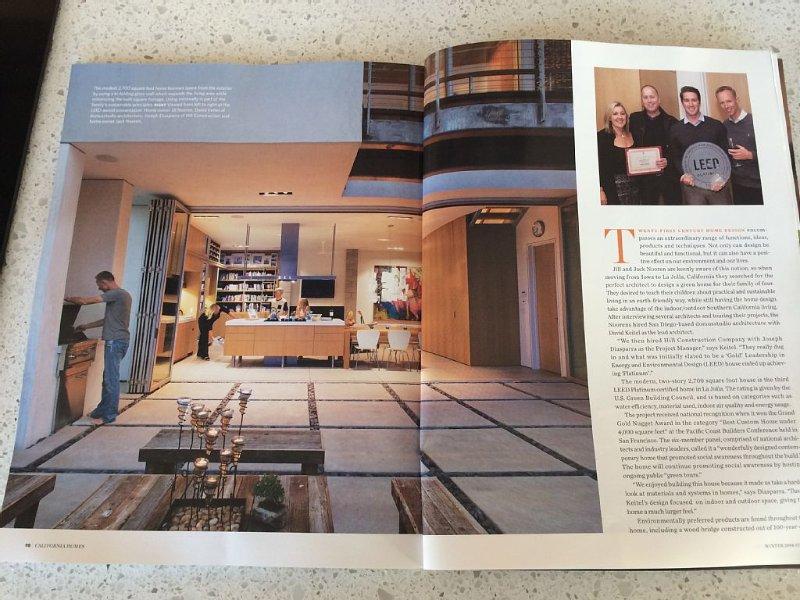 Article in California Homes magazine