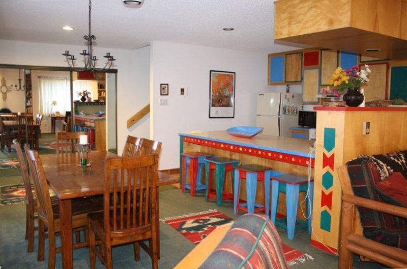 The kitchen and dining room are spacious and open for convenience. Lots of room!