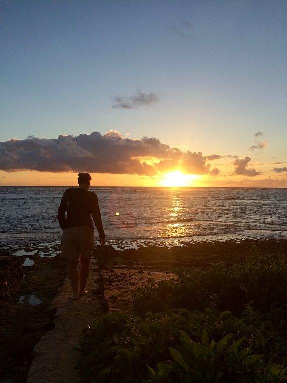Enjoy sunrise morning adventures on secluded kokololio beach just steps away.