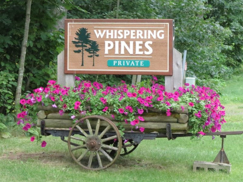 The cabin is part of a private 5 cabin association called Whispering Pines.