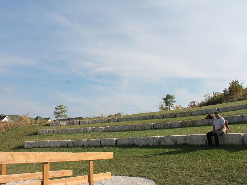 Across the street  -a Greek amphitheatre and community gathering place