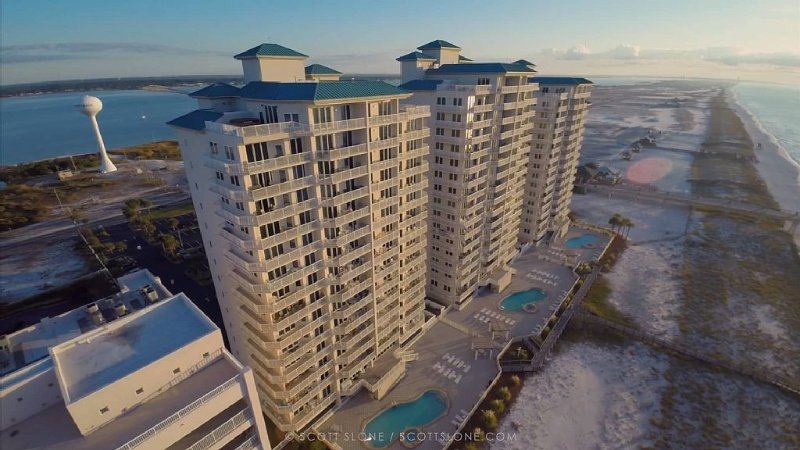 Aerial view of our condo