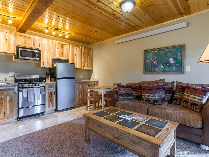 #8 Walk to All Downtown Shopping from this Beautiful Riverside Condo, vacation rental in Estes Park