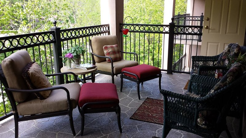 LUX CONDO OVER BEAUTIFUL STREAM- VIEW THE MISTS - CLOSE TO DOWNTOWN G!, vacation rental in Gatlinburg
