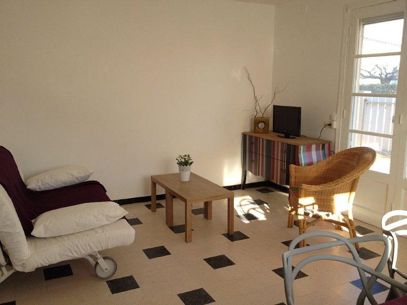 Agréable appartement, avec terrasse, de 55 m2 pour 4 à 6 personnes, situé au rdc, vacation rental in Narbonne
